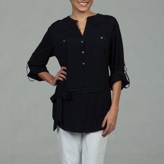 Calvin Klein Womens Eclipse Front Pocket Top