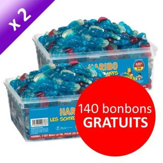 Haribo Schtroumpf 210 pièces x2   Achat / Vente CONFISERIE DE SUCRE