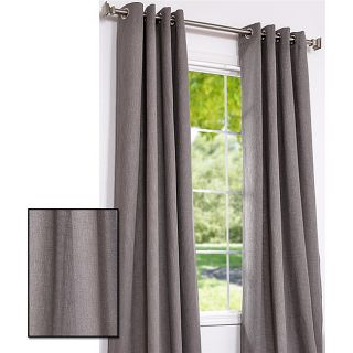 Dark Grey Cotton Linen 84 inch Grommet Curtain Panel