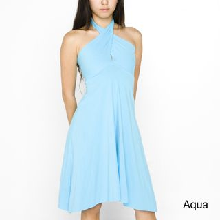 American Apparel Womens Converible Jersey Bandeau Dress