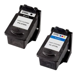 Canon PG210XL CL211XL Compatible Black/Color Ink Cartridge (Pack of 2