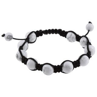 La Preciosa Created White Howlite Bead Macrame Bracelet