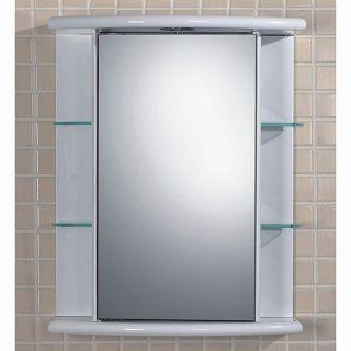 Fresca White Glass shelved Medicine Cabinet