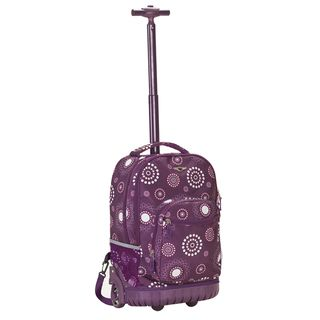 Rockland Purple Pearl 18 inch Rolling Laptop Backpack