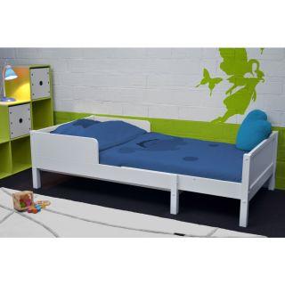 jim lit superpos 90x200 blanc achat vente ensemble sommier. Black Bedroom Furniture Sets. Home Design Ideas