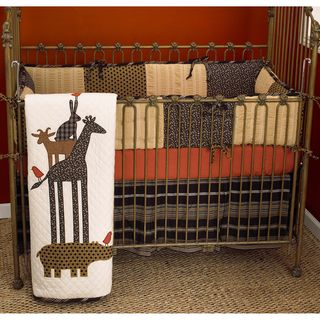 Cotton Tale Animal Stackers 4 piece Crib Bedding Set