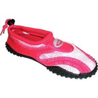 Womens Easy USA Water Shoes/Aqua Socks (2 Pairs) Pink/Fuchsia