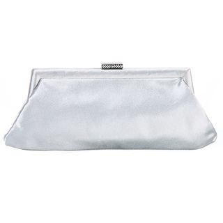Carlo Fellini Brunela Silver Satin Evening Bag