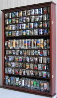 144 Shot Glass Display Case Holder Cabinet Shadow Box