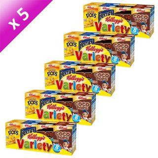 Individuels des meilleures Céréales Kelloggs   5 x 215 grammes