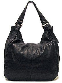 Floto Black Siena Bag in Italian Nappa Leather   handbag