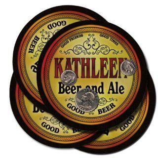 Kathleen Family Name Brand Beer & Ale Drink Coasters   Set
