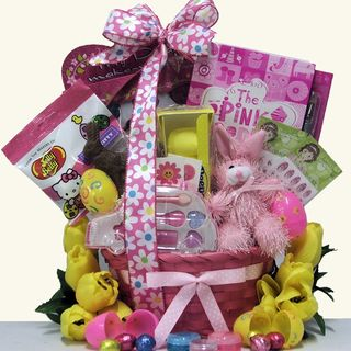 Egg streme Glamour Easter Gift Basket for Girls Ages 6 to 9 Years Old