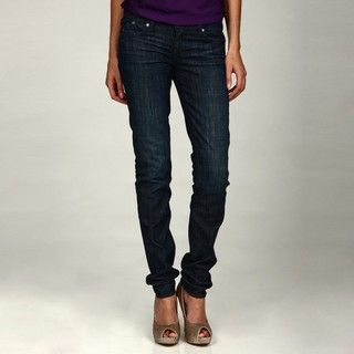 Rock & Republic Stella Shiny Blue Straight Leg Jeans