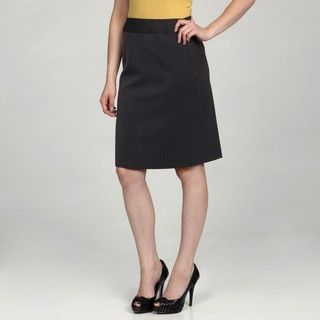 AK Anne Klein Womens Charcoal Classic Skirt