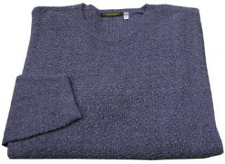 Cotton and Linen Blend Mens Crew Neck Sweater Made in