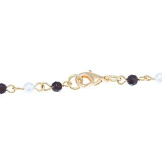 Adrienne Vittadini Goldtone Anzio Faux Pearl and Simulated Onyx