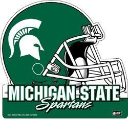 SET OF 3 MICHIGAN STATE SPARTANS FOOTBALL HELMET DIE CUT