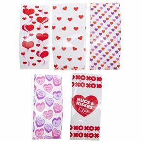 Valentine Cellophane Party Bags Toys & Games