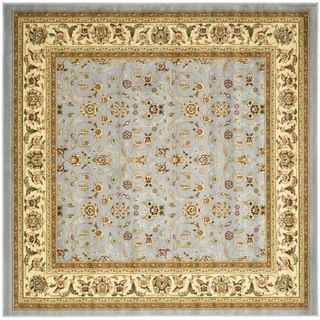 Lyndhurst Floral Motif Greyish Blue/ Ivory Rug (7 Square)