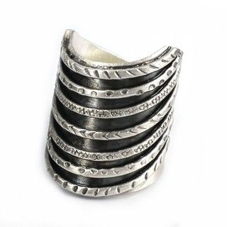 Thai Karen Hill Tribe Tribal Stack Illusion Handmade Silver Ring