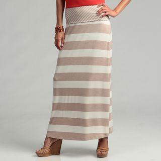 Calvin Klein Womens Striped Maxi Skirt