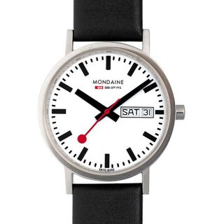 Mondaine Classic Mens Stainless Steel White Dial Watch