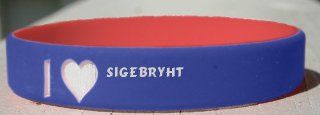 I Love Sigebryht personalized wristband (first name