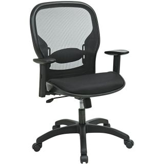 Office Star Adjustable Deluxe Screen Back Chair