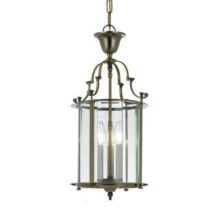 Camden 3 light Pendant in Antique Brass