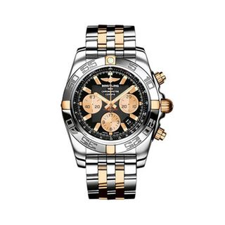 Breitling Mens Two tone Chronomat Chronograph Watch