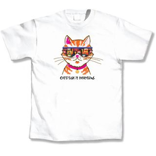 Cattitude White T Shirt