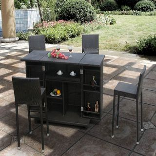 Sedona Multi functional Bar Table and Four Bar Stools with Heavy duty