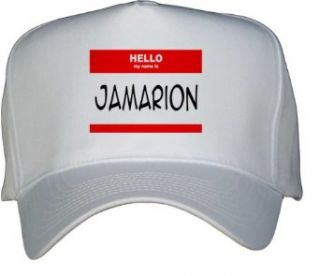 HELLO my name is JAMARION White Hat / Baseball Cap