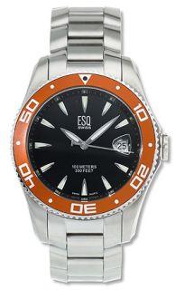 ESQ Tournament 100 Mens Black Dial Steel Watch