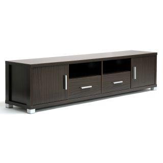 Chisholm   Mueble moderno para TV, madera, marrón oscuro Hoy $238.99