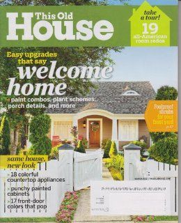that say Welcome Home (No. 156) This Old House Books