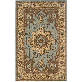 Hand tufted Blue Oriental Wool Rug (5 x 8)