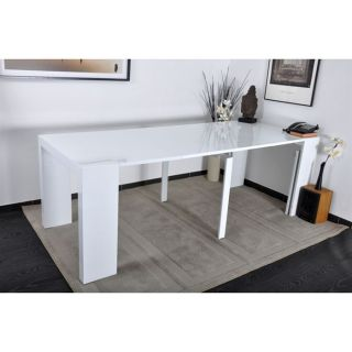 Table console extensible 3 rallonges chene myna achat for Table extensible console