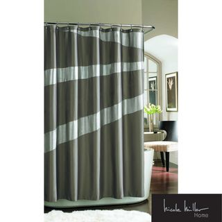 Nicole Miller Tangent Shimmer Shower Curtain