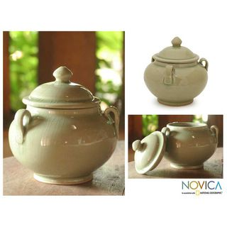 Celadon Ceramic Sleek Minimalism Jar (hailand)