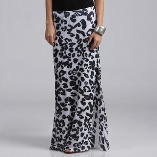 Tabeez Womens Plus Size Animal Print Maxi Skirt