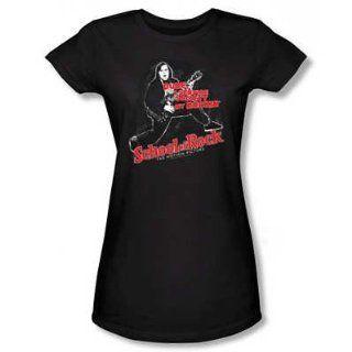 Juniors T Shirt   School of Rock   Rockin Womens Black
