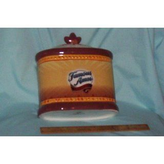 Famous Amos Cookie Jar with Lid