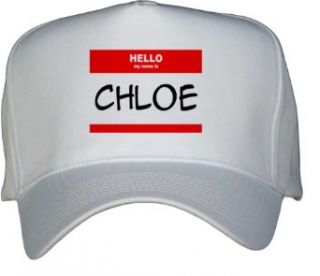HELLO my name is CHLOE White Hat / Baseball Cap Clothing