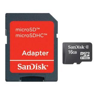 SANDISK MicroSD 16 Go + adaptateur SD   Achat / Vente CARTE MEMOIRE