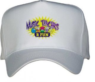 MUSIC TEAHCERS R FUN White Hat / Baseball Cap Clothing