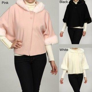 SM2 Womens Wool blend 2 button Cape