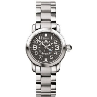 Swiss Army Womens Vivante Dual Time Black Dial Watch