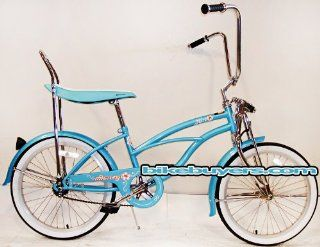 Micargi Hero Girls Baby Blue Beach Cruiser Bike Bicycle